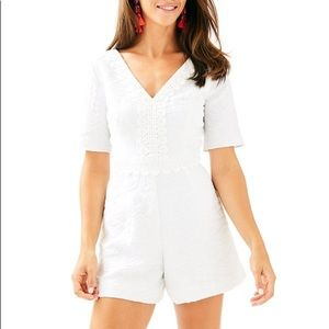 Lilly Pulitzer Zina Romper White Size Medium